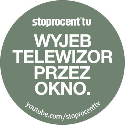 Wlepa Stoprocent Stoprocent TV