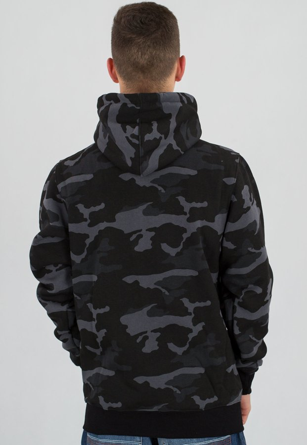 Bluza Mass Zip Base black camo
