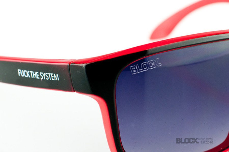 Okulary Blocx Freestyle Black X Red 34