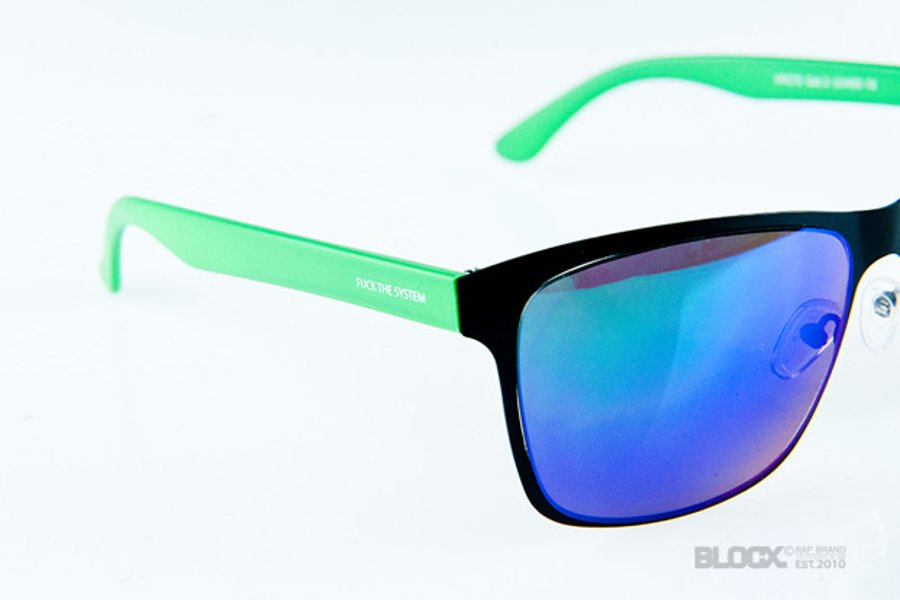 Okulary Blocx New Age Black x Green Mirror Green 78