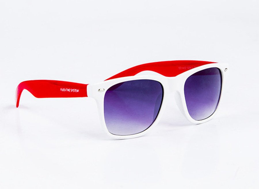 Okulary Blocx White x Red
