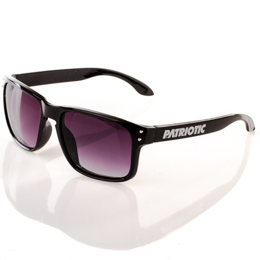 Okulary Patriotic Freestyle Black Silver Point 1111