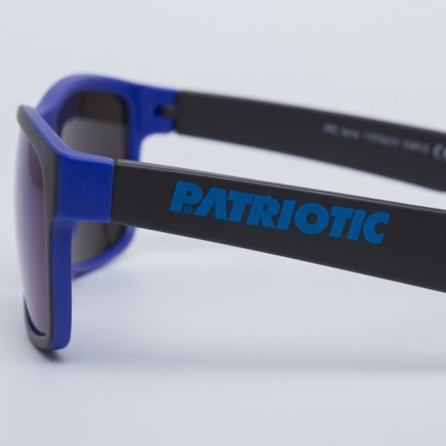 Okulary Patriotic Mat Black Blue Blue 6105