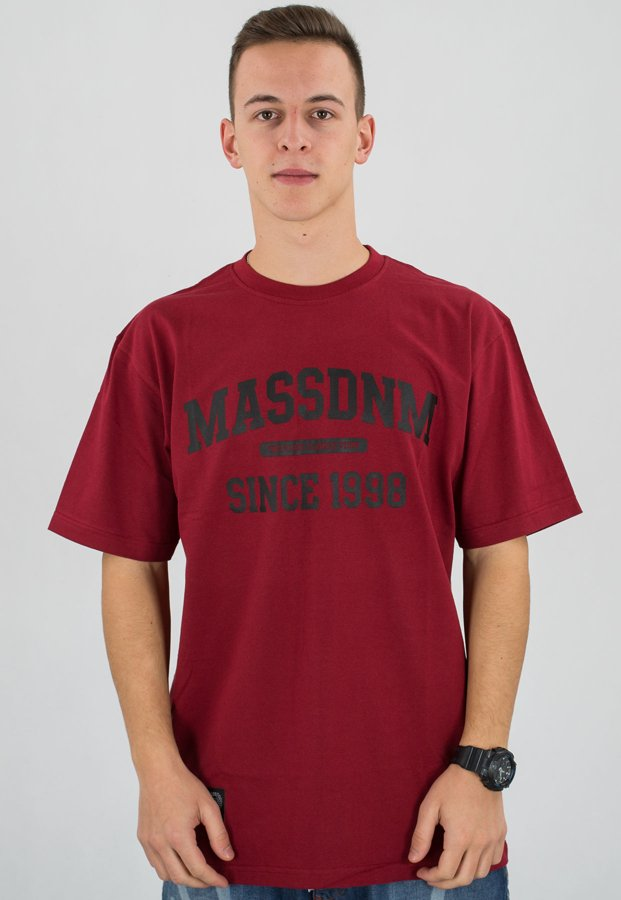 T-shirt Mass Campus bordowy