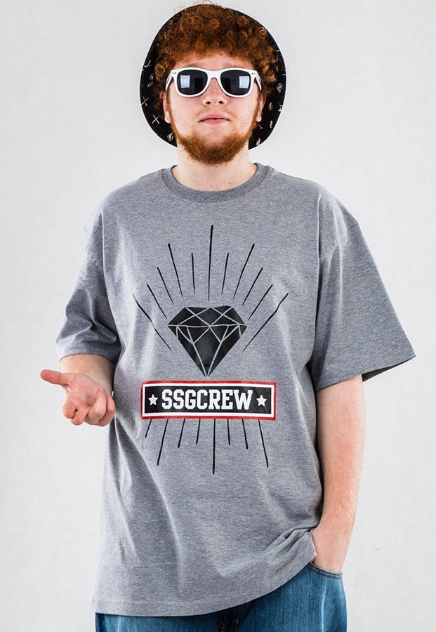 T-shirt SSG Diamond szary