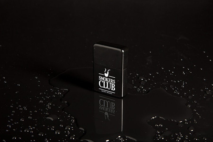 Zapalniczka Diamante Wear 'Smokers Club' Black Cube