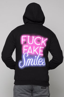 Bluza Diamante Wear Fuck Fake Smiles czarna