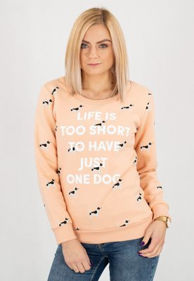 Bluza Diamante Wear Life Is Too Short, Dog różowa
