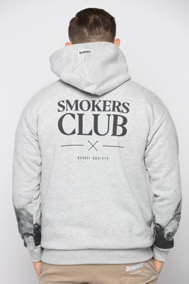 Bluza Diamante Wear Smokers Club szara