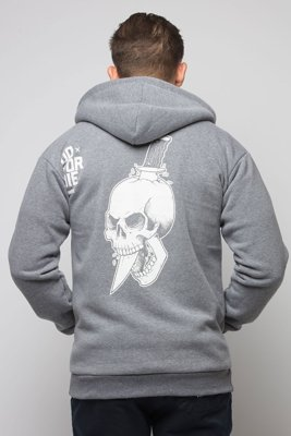Bluza Diamante Wear Zip Do Or Die szara