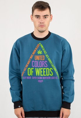 Bluza Equalizer United Colors Of Weeds niebieska