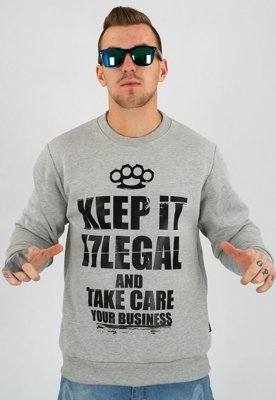 Bluza Illegal Keep It jasno szara