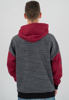 Bluza Lucky Dice Emblems szaro bordowa
