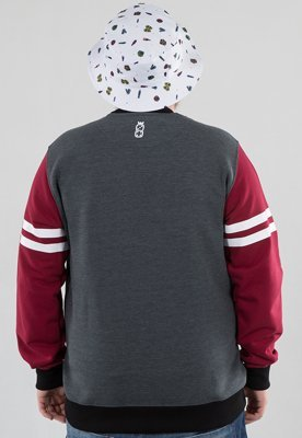 Bluza Lucky Dice New Crewneck grafitowo bordowa