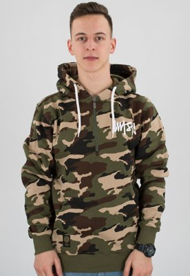 Bluza Mass Half Zip Signature woodland camo