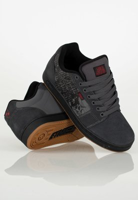 Buty Etnies Metal Mulisha Barge XL Dark Grey Black Red