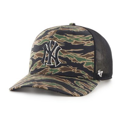 Czapka 47 Brand MLB New York Yankees Drop Zone Mesh '47 MVP DP czarna B-DRZNM17PTP-E1