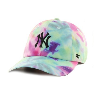 Czapka 47 Brand MLB New York Yankees Tie Dye '47 CLEAN UP MF camo B-TDCMF17PTW-WH