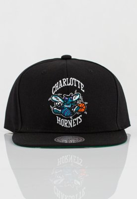 Czapka Snapback Mitchell & Ness NBA Wool Solid Hornets