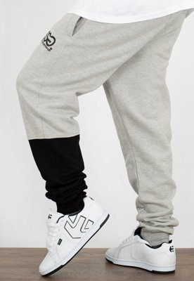 Dresy SSG Joggery Slim One Side Small Big jasno szare