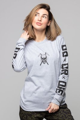 Longsleeve Diamante Wear Do Or Die szary