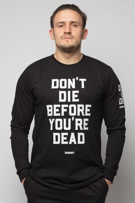 Longsleeve Diamante Wear Don't Die czarny