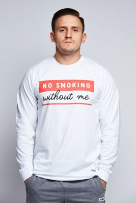Longsleeve Diamante Wear No Smoking biały