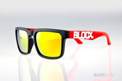 Okulary Blocx Square Black x Red Mirror 165