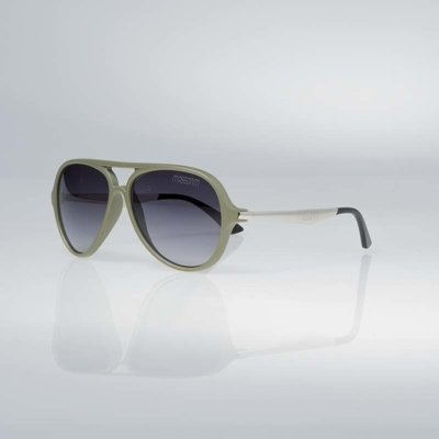 Okulary Mass George matte khaki / silver