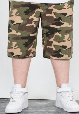 Spodenki Mass Jogger Straight Fit Base woodland camo