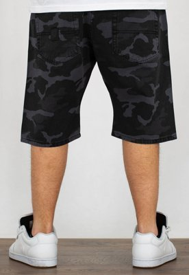 Spodenki Mass Straight Fit Base black camo
