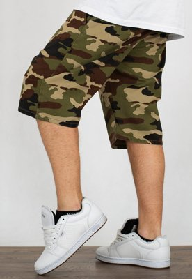 Spodenki Mass Straight Fit Classics woodland camo