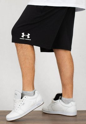 Spodenki Under Armour UAR 1329299001 Sportstyle Cotton Short czarne