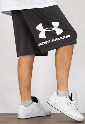 Spodenki Under Armour UAR 1329300020 Sportstyle Cotton Logo jasno szare