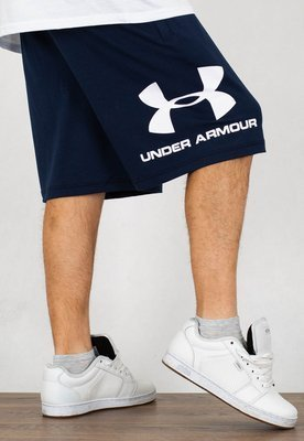 Spodenki Under Armour UAR 1329300408 Sportstyle Cotton Logo granatowe