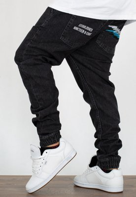 Spodnie Mass Jogger Trap Fit Truth black rinse