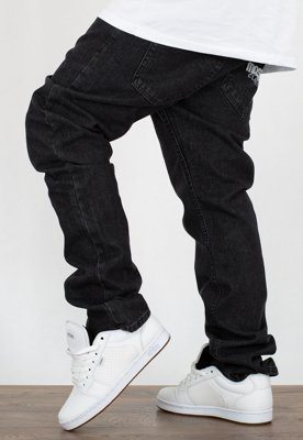 Spodnie Mass Straight Fit Classics black rinse