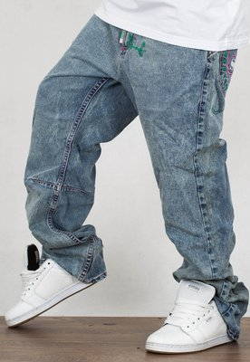 Spodnie Stoprocent Baggy Jeans 003 Lucha Tag Blue