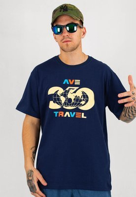 T-shirt 360CLTH Ave Travel granatowy