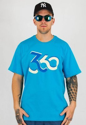 T-shirt 360CLTH Loop turkusowy