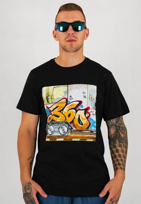 T-shirt 360CLTH Mixtape czarny + CD