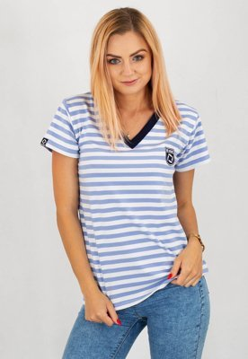 T-shirt ATR Wear ATR Blue Stripes niebieski