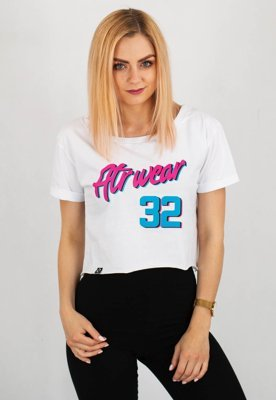 T-shirt ATR Wear Crop Top Miami biały