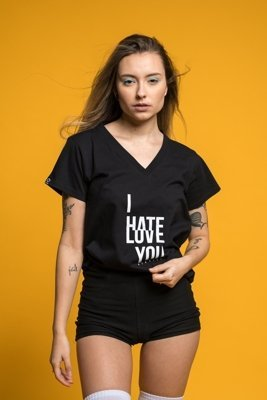 T-shirt ATR Wear Hate Love czarny