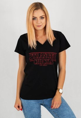 T-shirt ATR Wear Stranger Chicks czarny