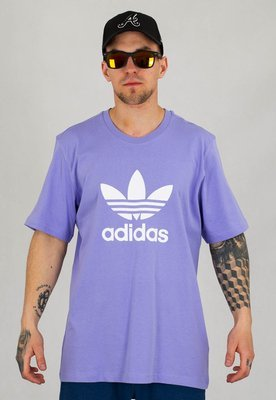 T-shirt Adidas Adicolor Classics Trefoil Tee GN3481 fioletowy