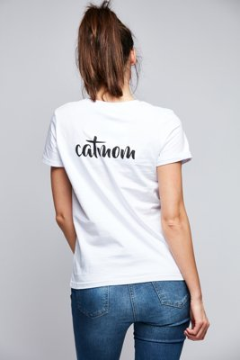 T-shirt Diamante Wear Catmom biały