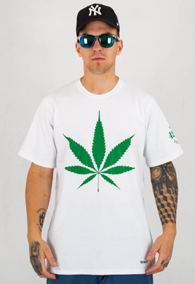 T-shirt Diamante Wear God Bless Weed biały