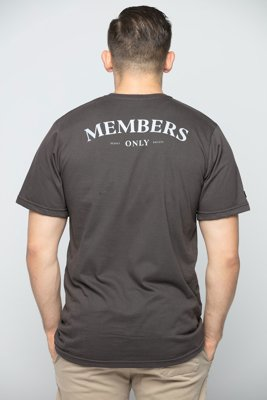 T-shirt Diamante Wear Members Only kawowy