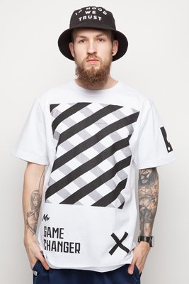 T-shirt Diamante Wear Mr. Game Changer biały